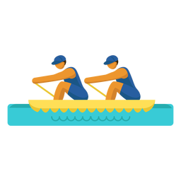 Olympic sport pictogram rowing double flat