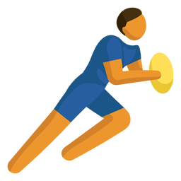 Olympic sport pictogram rugby flat