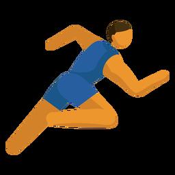 Olympia-Sportpiktogramm läuft flach