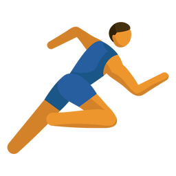 Pictograma del deporte olímpico corriendo plano