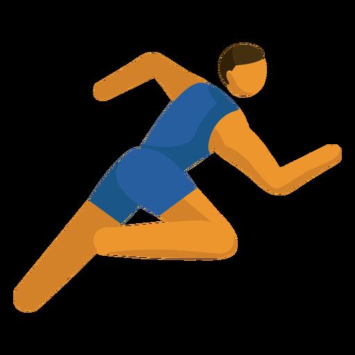 Pictograma de deporte olímpico corriendo plano