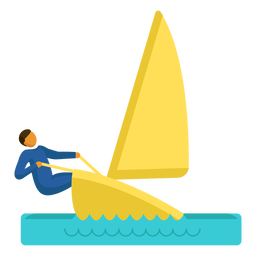 Olympic sport pictogram sailing flat