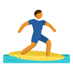Olympic sport pictogram sea surfing flat