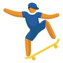 Olympic sport pictogram skate boarding flat