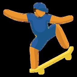 Pictograma de deporte olímpico skate boarding flat