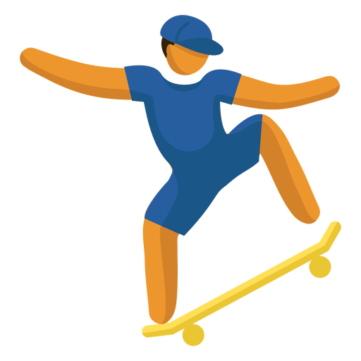 Olympic sport pictogram skate boarding flat Transparent PNG