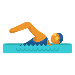 Pictograma de deporte olímpico natación plana