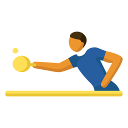 Olympic sport pictogram table tennis flat