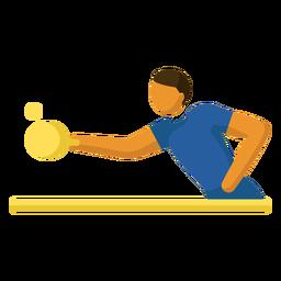 Pictograma de deporte olímpico tenis de mesa plano