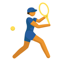 Plano de tenis de pictograma de deporte olímpico