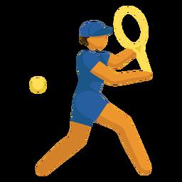 Tênis olímpico de pictograma esporte plana