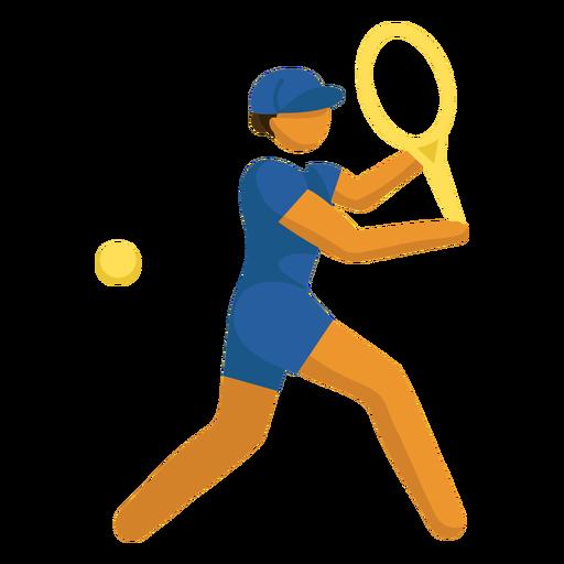 Olympic sport pictogram tennis flat