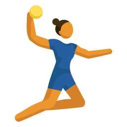 Pictograma de deporte olímpico voleibol posando plano
