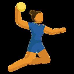Voleibol de pictograma esporte olímpico posando plana