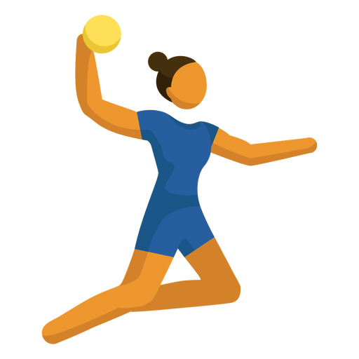 Olympic sport pictogram volleyball posing flat
