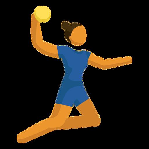 Voleibol de pictograma esporte olímpico posando plana Transparent PNG
