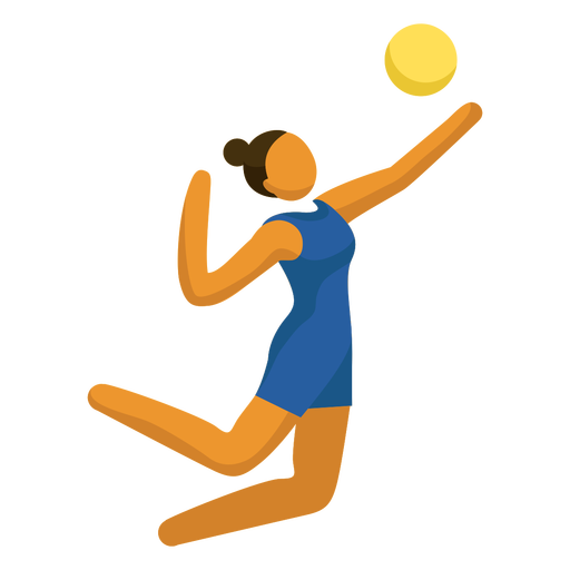 Olympic sport pictogram volleyball serving flat