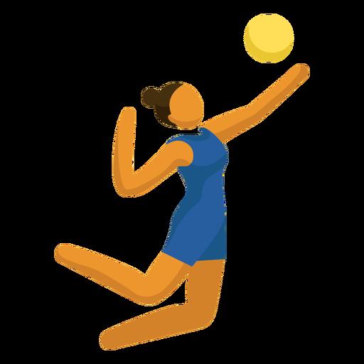 Pictograma de deporte olímpico voleibol que sirve plano Transparent PNG