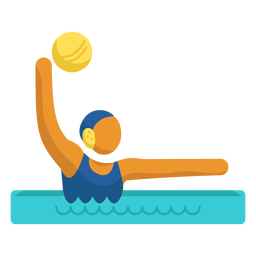 Olympic sport pictogram waterpolo flat