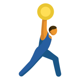 Olympic sport pictogram weightlifting flat