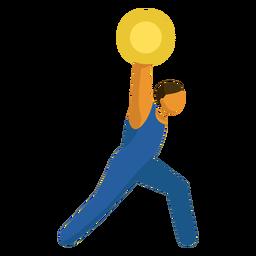 Pictograma de deporte olímpico plano de levantamiento de pesas