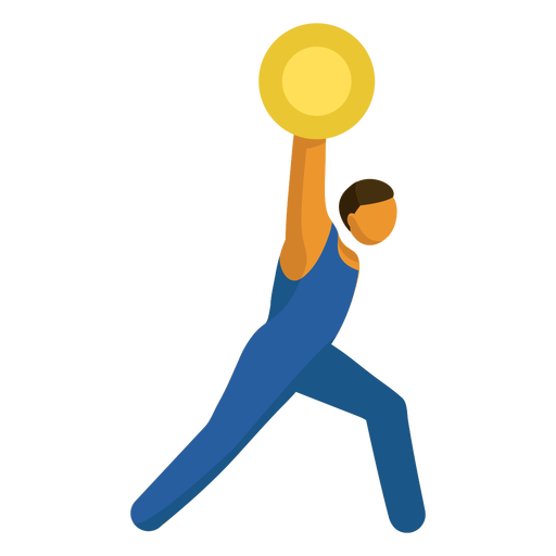 Olympic sport pictogram weightlifting flat Transparent PNG