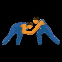 Pictograma de deporte olímpico lucha plana