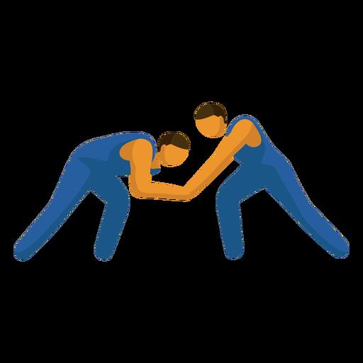 Pictograma de deporte olímpico lucha libre plana