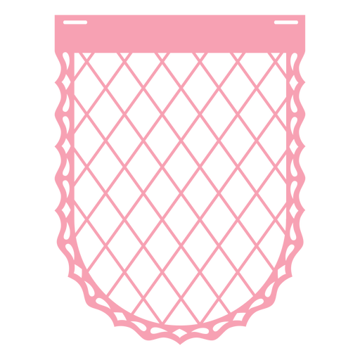 Papel picado badge mesh flat