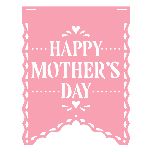 Papel picado ribbon mothers day flat Transparent PNG
