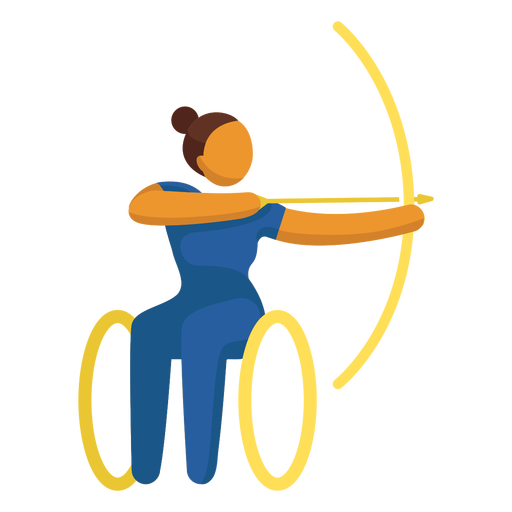 Paralympic sport pictogram archery flat Transparent PNG