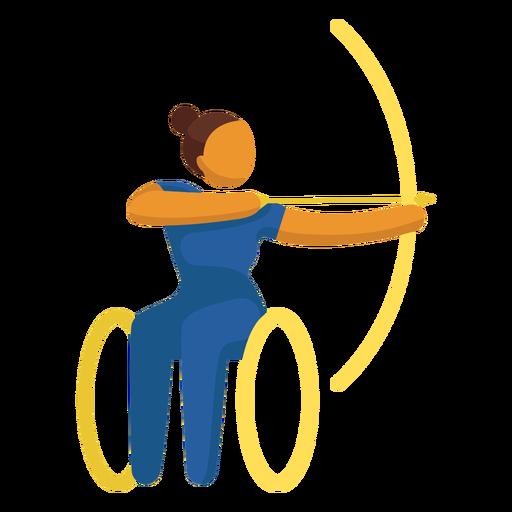 Tiro con arco deporte pictograma paralímpico plana Transparent PNG