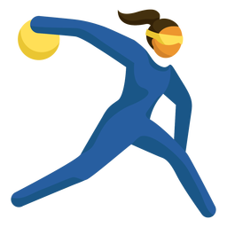 Paralympic sport pictogram bowling flat