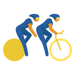 Paralympic sport pictogram cycling flat
