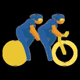 Pictograma de deporte paralímpico ciclismo plano
