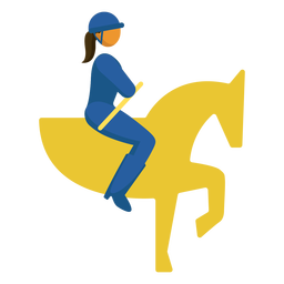 Paralympic sport pictogram equestrian flat