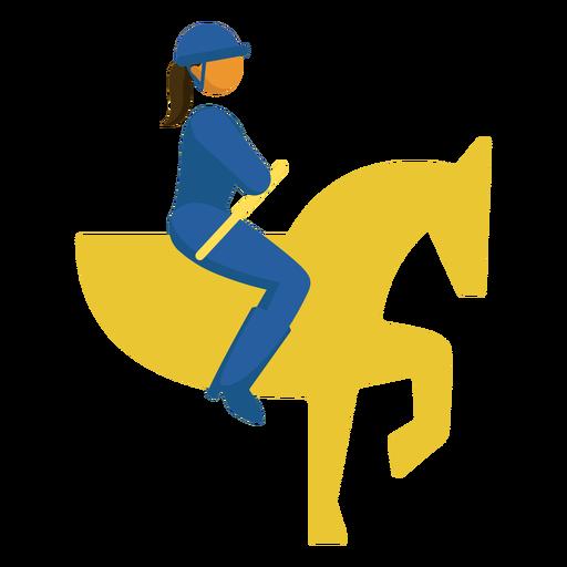 Paralympic sport pictogram equestrian flat