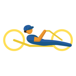Paralympic sport pictogram handcycling flat