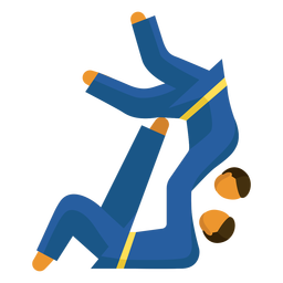 Paralympic sport pictogram karate flat