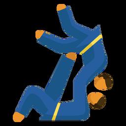 Pictograma de deporte paralímpico karate flat