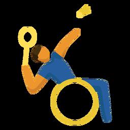 Pictograma de deporte paralímpico para bádminton plano
