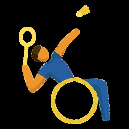 Pictograma de deporte paralímpico para bádminton plano Transparent PNG
