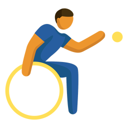 Paralympic sport pictogram powerchair football flat