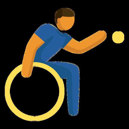 Pictograma de deporte paralímpico powerchair football flat Transparent PNG