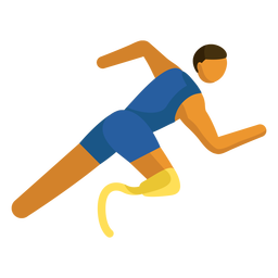 Paralympic sport pictogram running flat