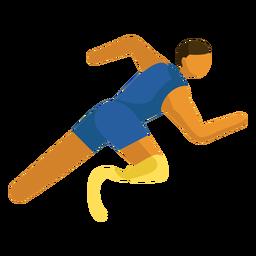 Pictograma de deporte paralímpico corriendo plano