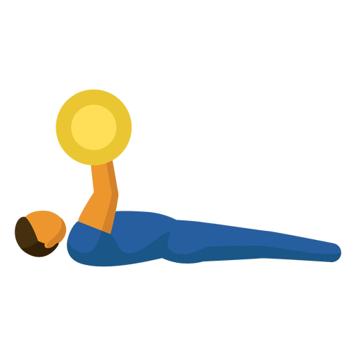 Paralympic sport pictogram weightlifting flat
