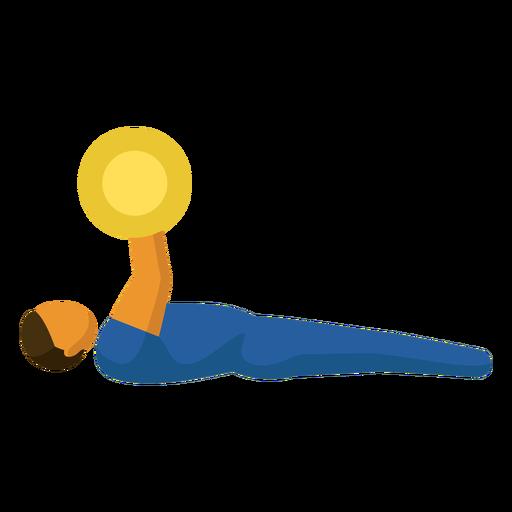 Pictograma de deporte paralímpico plano de levantamiento de pesas