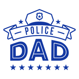 Police dad lettering police