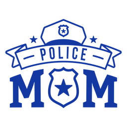 Police mom lettering